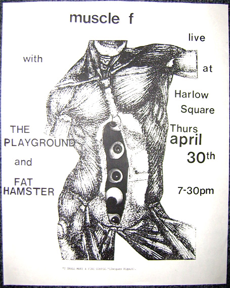 flier for muscle f Gig at The square